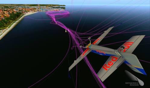 Fotorealistycznie odwzorowany tor Redbull Air Race Gdynia
